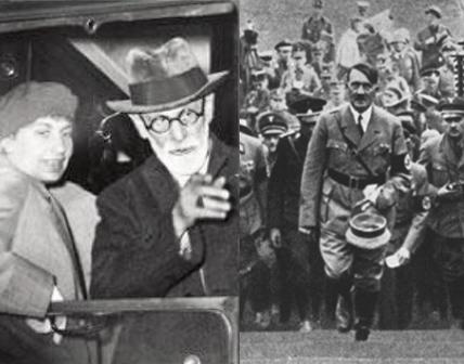 Photographs of S Freud/A Hitler